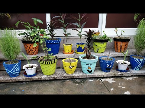 Garden Pot painting ideas