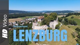 Lenzburg / Schloss / Medieval Old Town / Drone View Castle / DJI Phantom 4 / DJI Osmo