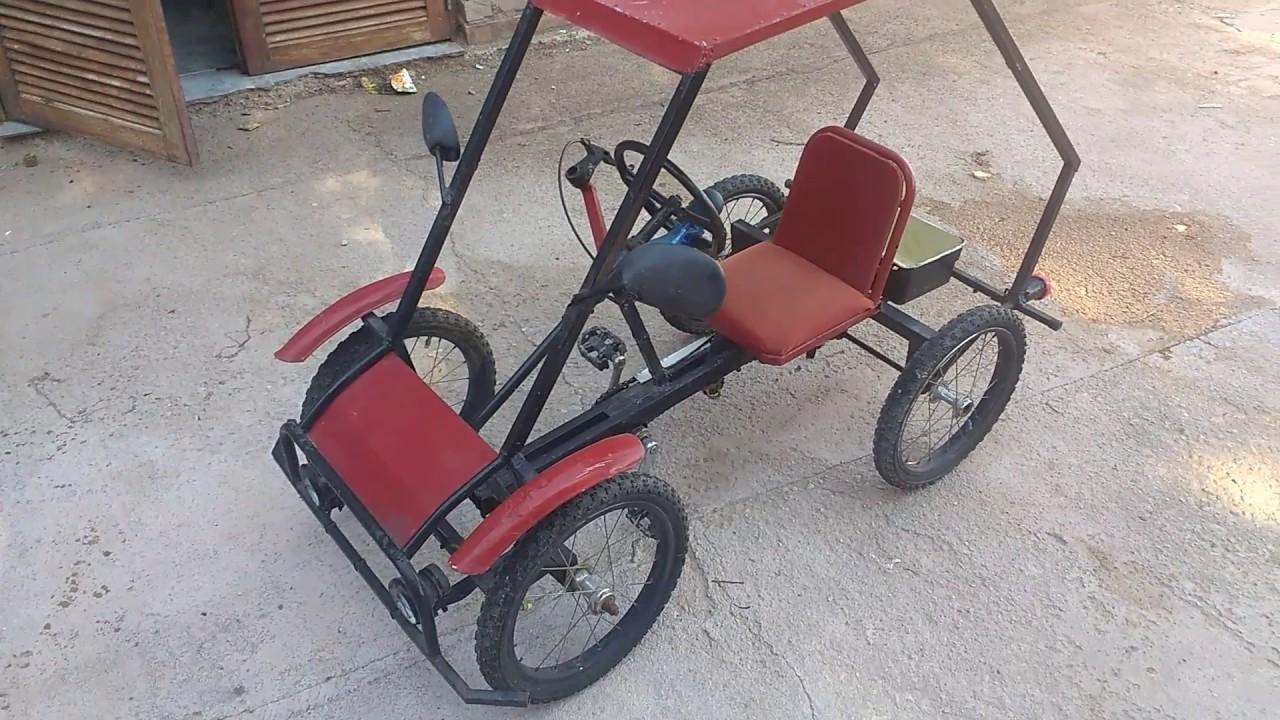 karting casero a pedales youtube. Black Bedroom Furniture Sets. Home Design Ideas
