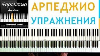 🎹 Фортепиано ДЛЯ ВСЕХ. Урок 11 - АРПЕДЖИО по 3 ноты - УПРАЖНЕНИЯ