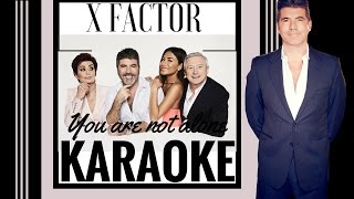 Xfactor Finalists - You Are Not Alone Karaoke. [ColourkaraokeOfficial]