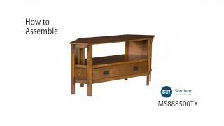 MS8885T: Carson Oak Corner Media Stand Assembly Video