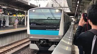 【南行ホームから逆走発車!】上野駅 京浜東北線4番線から留置線へ