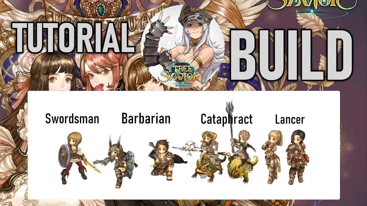 [TOS:RE] Tutorial Build PT-BR (Swordsman,Cataphract,Lancer e Barbarian)