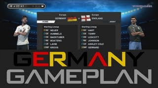 Pes 2013 - Best (Germany) Gameplan / Formation !!! (HD) Ranking Match