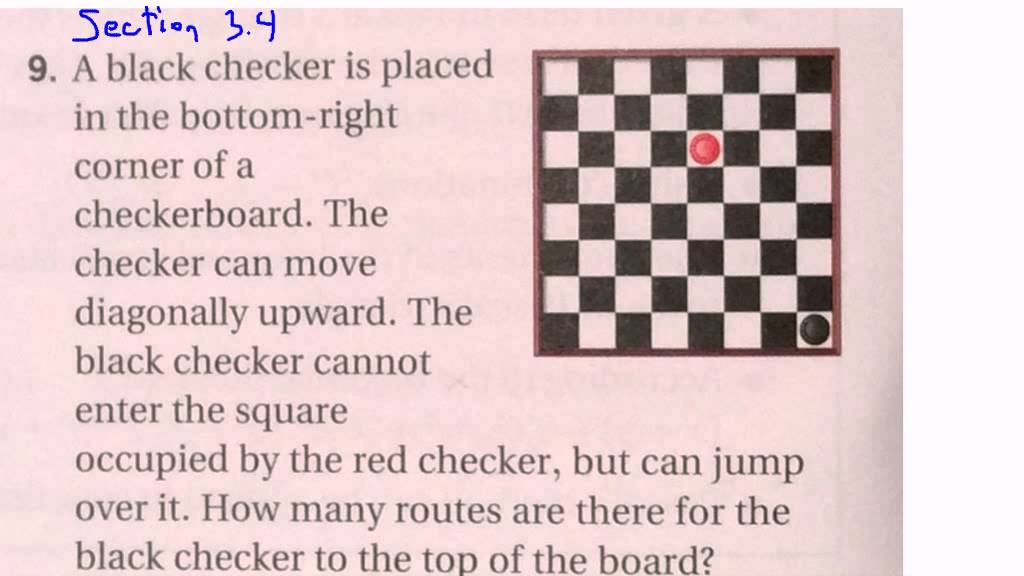 3.4 Q9 Applying Pascals Method to a Checkerboard Problem - YouTube