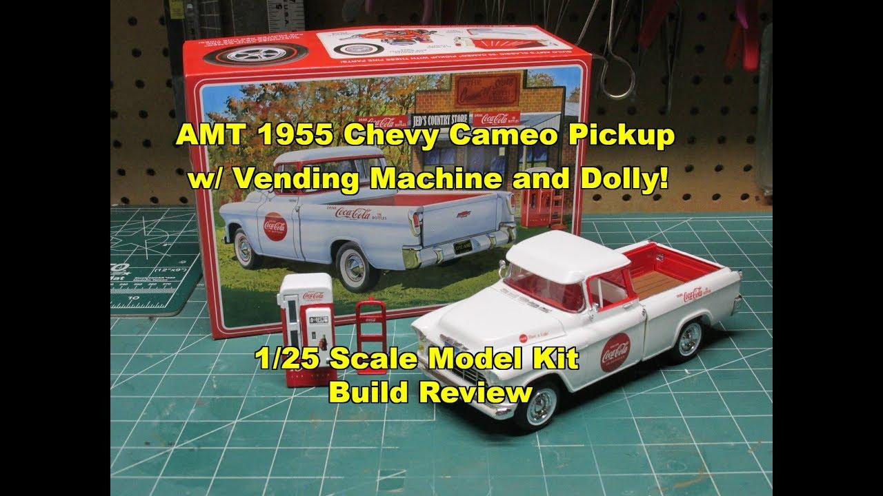 AMT 1955 CHEVY CAMEO PICKUP COCA COLA 1/25 MODEL KIT BUILD ...