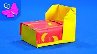 Оригами Кровать из бумаги ❀ Мебель для кукол своими руками