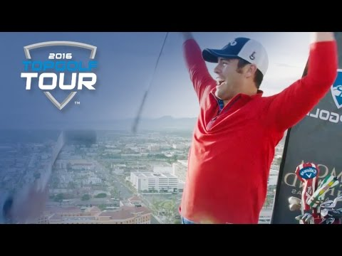 Bryan Bros Trick Shot from MGM Grand into Topgolf Las Vegas | 2016 Topgolf Tour | Topgolf