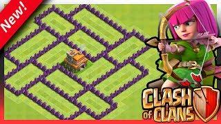 """Clash of Clans - Cv7 O melhor layout anti estrelas """" TH7 Base Anti Star """" 2018"""