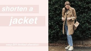 How to Shorten a Jacket or Coat: Easy Thrifting Alterations
