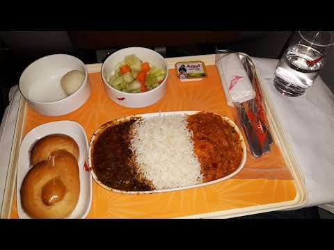 Air India Business Class Food | Air India Dinner on Guwahati- New Delhi Flight