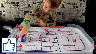 Настольный Хоккей распаковка и первая игра Видео для детей Vlog Danya Boy