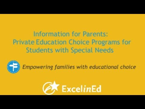 Informing Parents About Private Education Choice Programs for Students with Special Needs