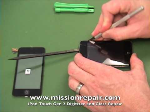 Repair your Gen 2 iPod Touch cracked glass in less than 2 minutes | MissionRepair.com