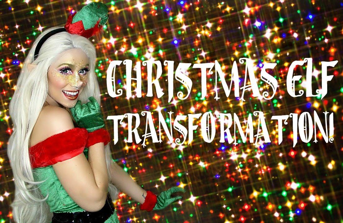 christmas elf makeup transformation youtube - Christmas Elf Makeup