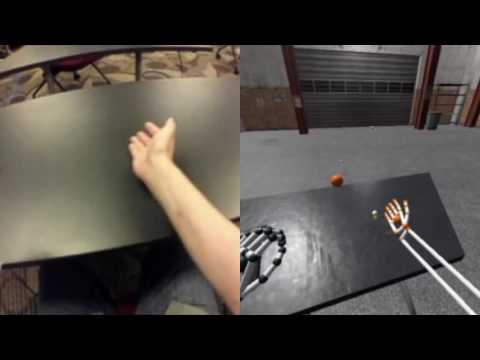 HTC Vive and Leap Motion Demo