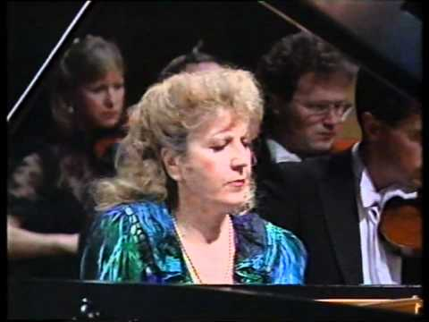 Cecile Ousset LIVE - Prokofiev's Third Piano Concerto - stereo '91 (pt.1of3)