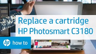 Replacing a Cartridge - HP Photosmart C3180 All-in-One Printer(Learn how to replace a cartridge in the HP Photosmart C3180 All-in-One printer. The model shown is the HP Photosmart C3180 All-in-One Printer. The steps ..., 2010-11-04T20:18:23.000Z)