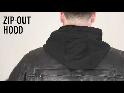 913338410 First Mfg Co - Vendetta - Men's Leather Motorcycle Jacket