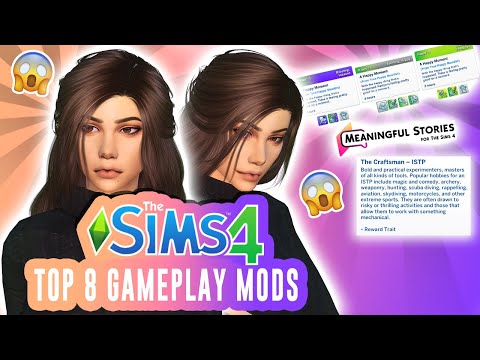 *NEW* TOP 8 MODS!   GAMEPLAY & REALISM   THE SIMS 4   FEB 2020  