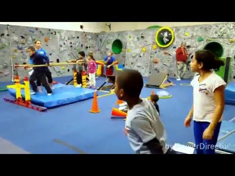 Athletic Ninja Warrior obstacle progressive gym