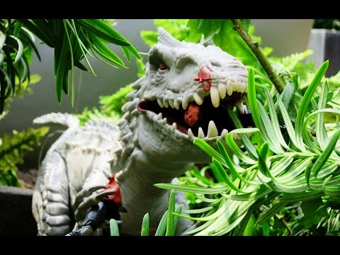 Indominus Rex escape Jurassic World stop motion