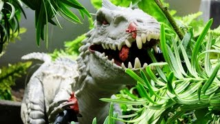 Indominus Rex escape Jurassic World stop motion