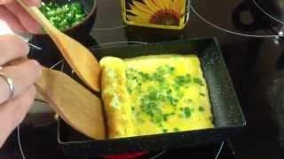 Японский омлет Томаго - макробиотический вариант приготовления