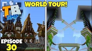 Truly Bedrock Episode 30! CRASH LANDING World Tour! Minecraft Bedrock Survival Let's Play!