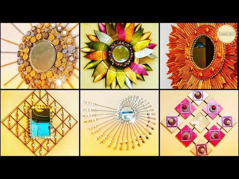 10 Amazing Wall Decor With Mirror| Gadac Diy| Wall Hanging| Diy Crafts| Cheap Home Decor| Craft Idea