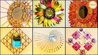 10 Amazing Wall Decor With Mirror| Gadac Diy| Wall Hanging| Diy Crafts| Cheap Home Decor| Craft Idea