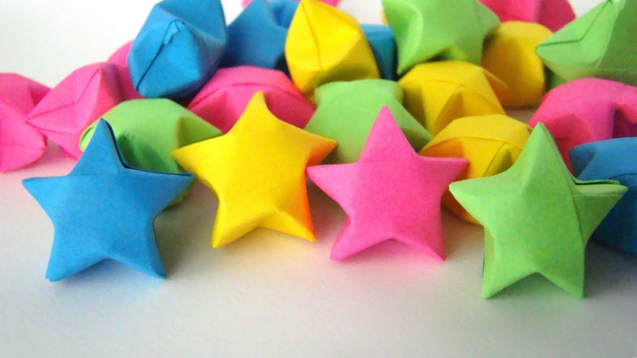 origami lucky star easy full hd youtube