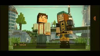 minecraft story mode season two/capitulo#3 estella  y creepers cargados