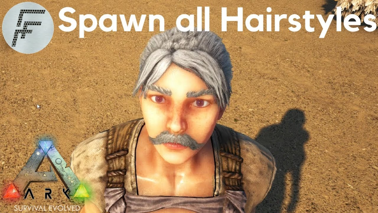 How To Spawn All Hair Styles Ark Survival Evolved Youtube