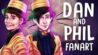 DRAWING DAN AND PHIL - The Internet is Here Fanart | Drawing Youtubers Episode #2 | Jenna Drawing