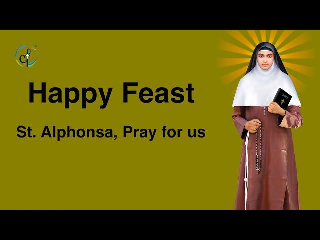 Festal Mass - St. Alphonsa    28 July 2021    Catholic Focus