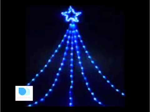 large led shooting star light blue white christmas lights youtube
