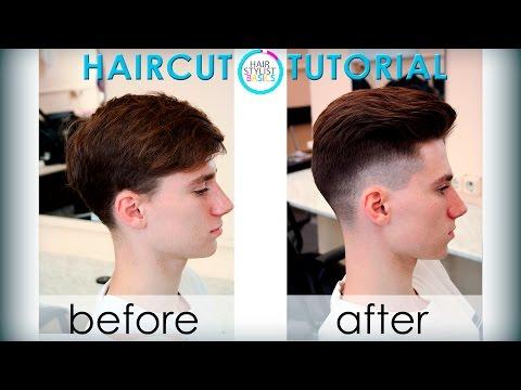 mens haircut in the British style (мужская стрижка Британка) tutorial 25