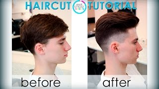 men's haircut in the British style (мужская стрижка