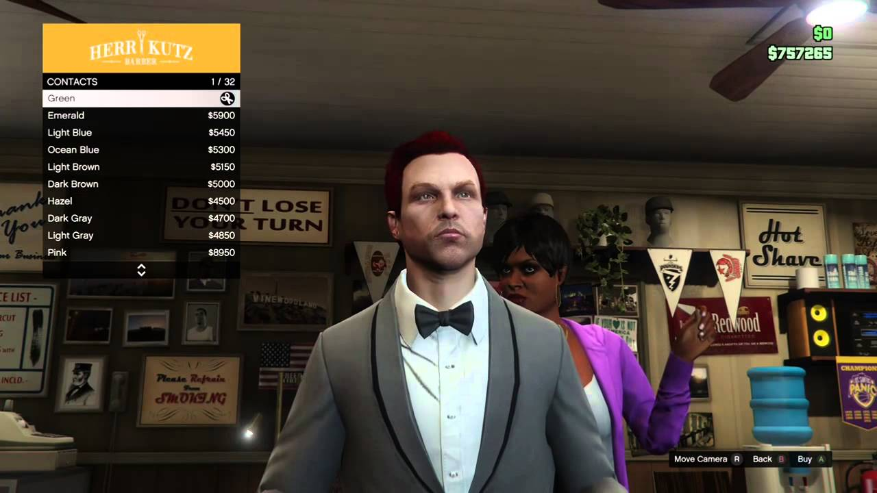 Gta 5 How To Change Your Hair Color Youtube