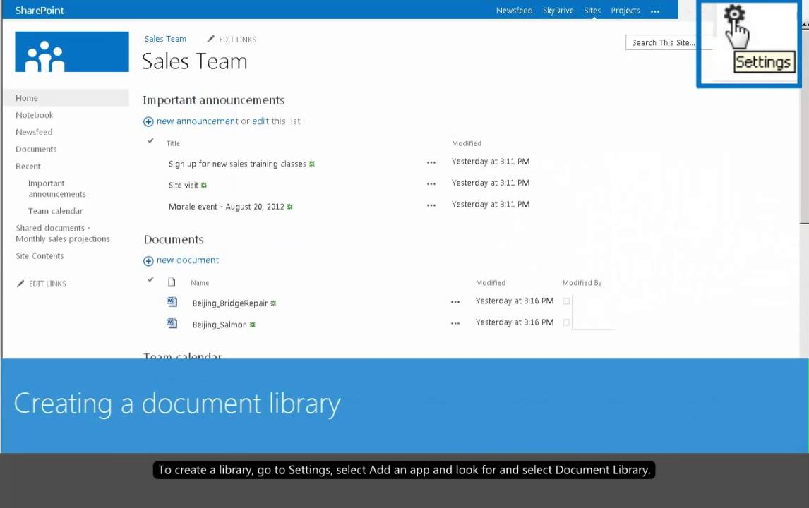Introduction to sharepoint 2013 libraries create a for Sharepoint 2013 document library template