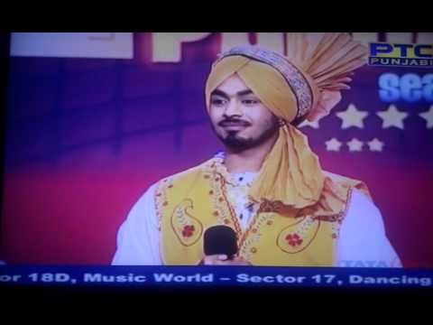 Karan Sehmbi Performing In Semi Finals Of Voice Of Punjab 2