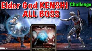 Elder God Kenshi Challenge All BOSS Fight   Mortal Kombat Mobile