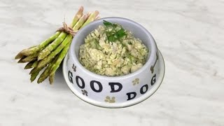 Chicken Rice Dinner! With Fluffy Rice & Asparagus Diy Dog Food  By Cooking For Dog.
