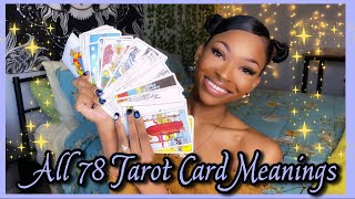 ALL 78 TAROT CARD MEANINGS! ♀