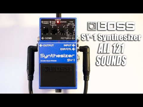 BOSS SY-1 Synthesizer | ALL THE SOUNDS [NO TALK / ONLY TONES]