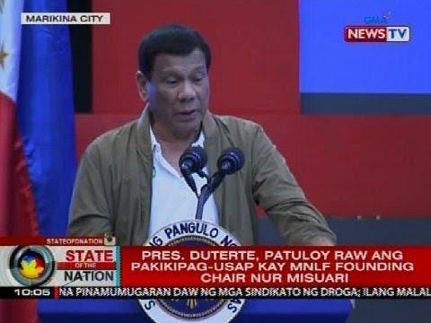 SONA: Pres. Duterte, patuloy raw ang pakikipag-usap kay MNLF founding chair Nur Misuari
