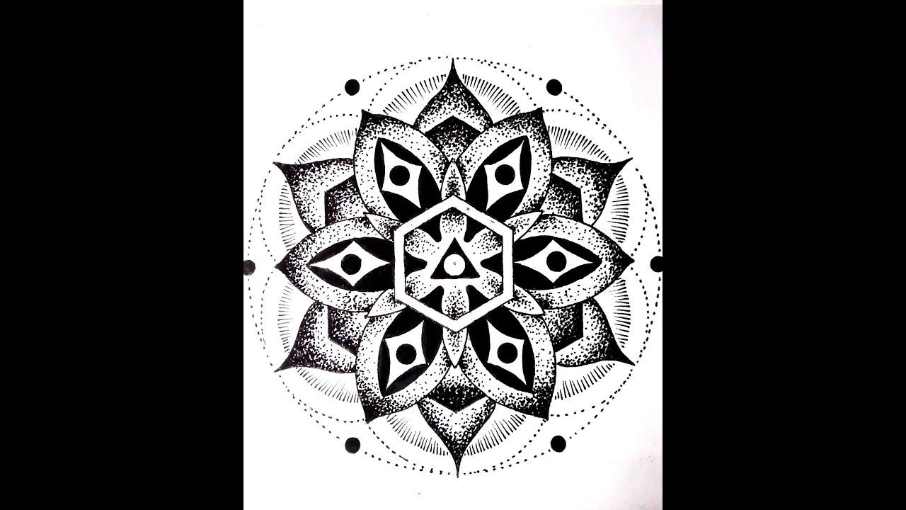 Dibujos De Mandalas: Como Dibujar Mandalas 1 / How To Draw Mandala 1