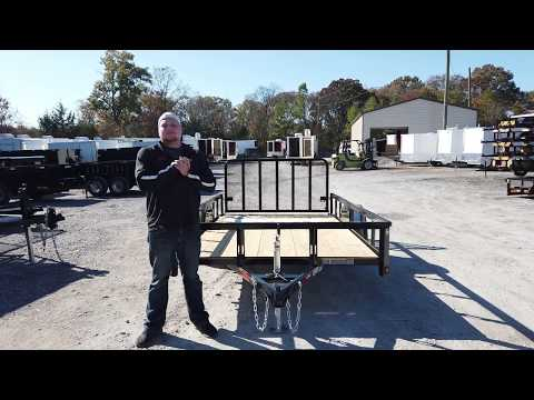 6.4x12 Dove Tail Utility Trailer Powder Coated 3500lb Axle